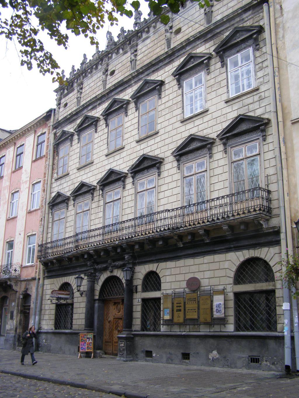 Ансамбль площі Ринок у Львові: будинок Корнякта. 1580.