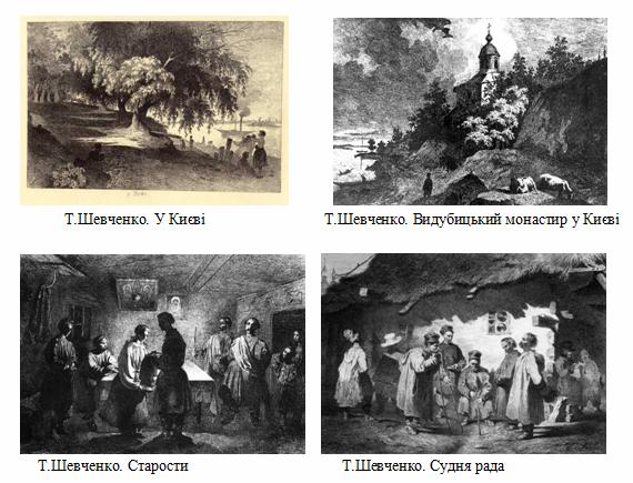 Т. Шевченко офорти з серії «Живописна Україна»