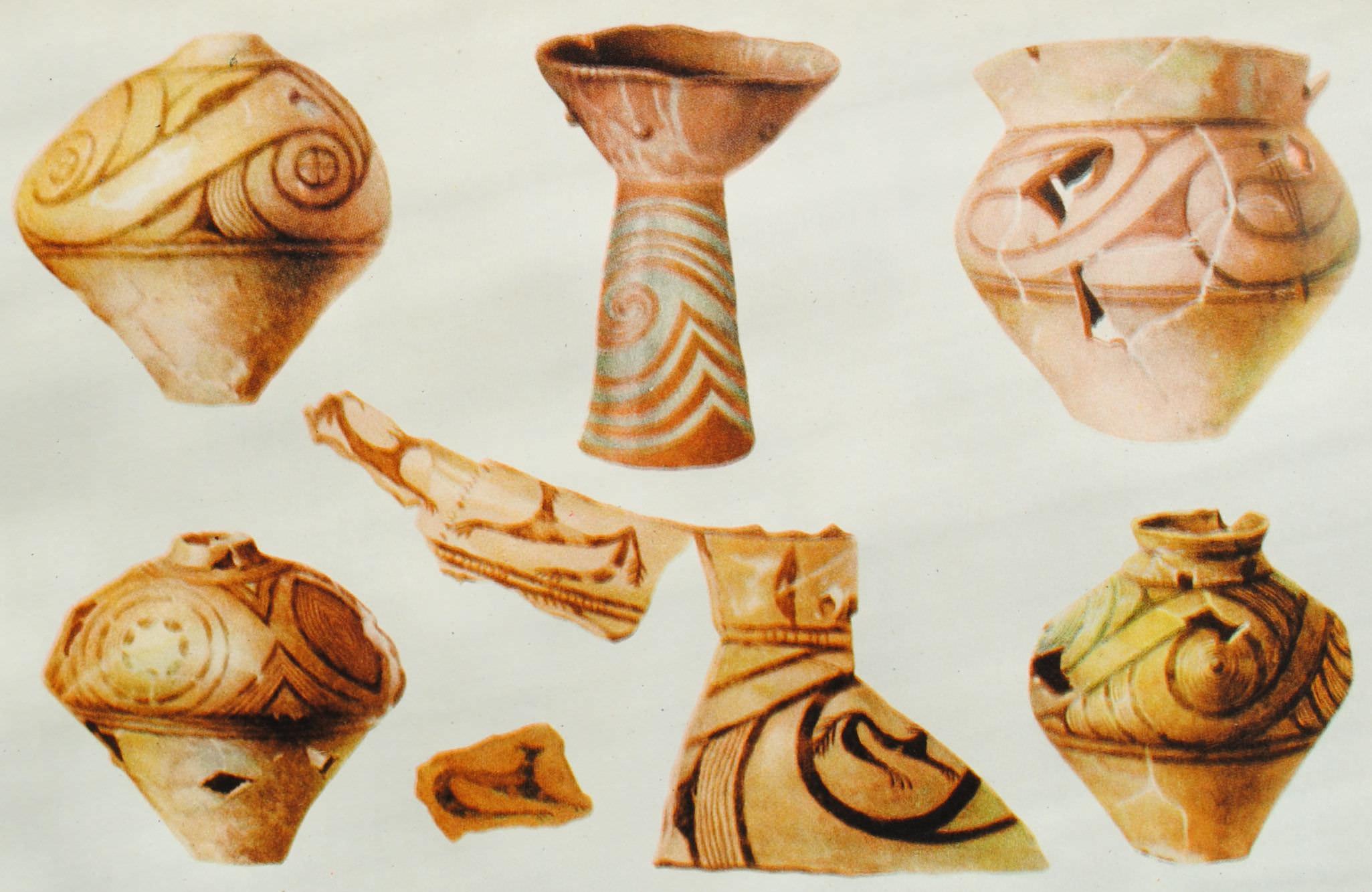 Кераміка трипільської культури. Орнаментована кераміка