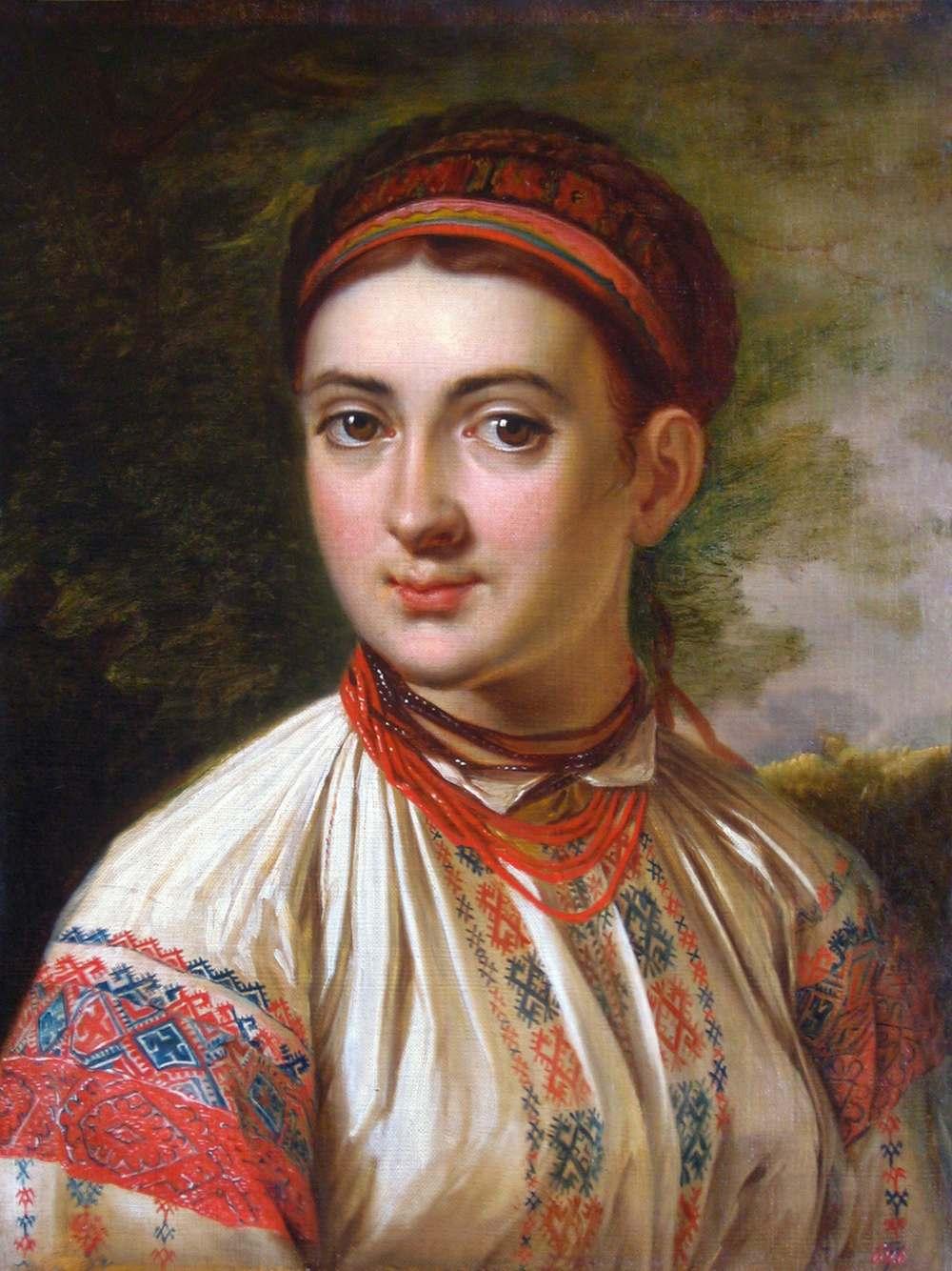 Картина «Дівчина з Поділля». В. Тропінін