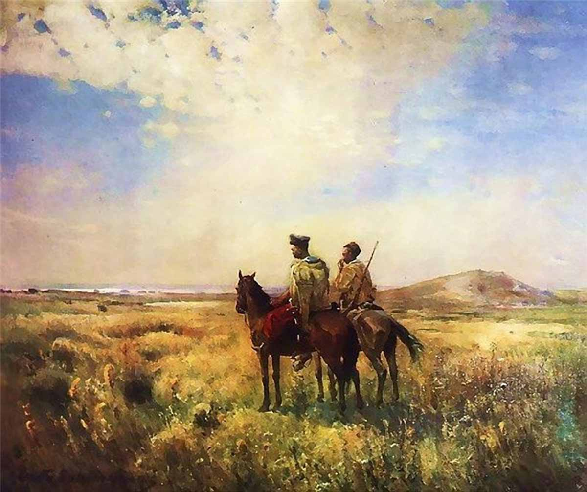Картина «Козаки в степу». 1890. С. Васильківський