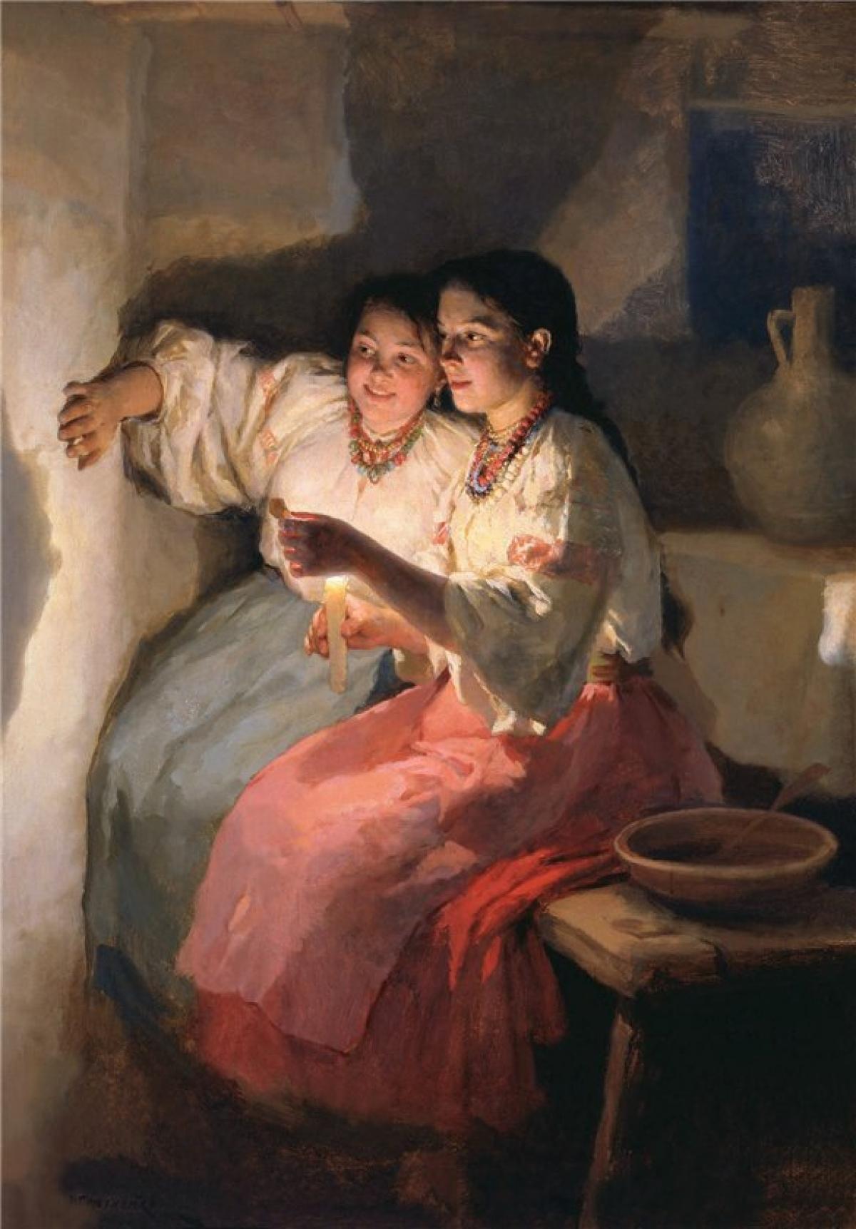 Картина «Святочне Ворожіння». 1888. М. Пимоненко