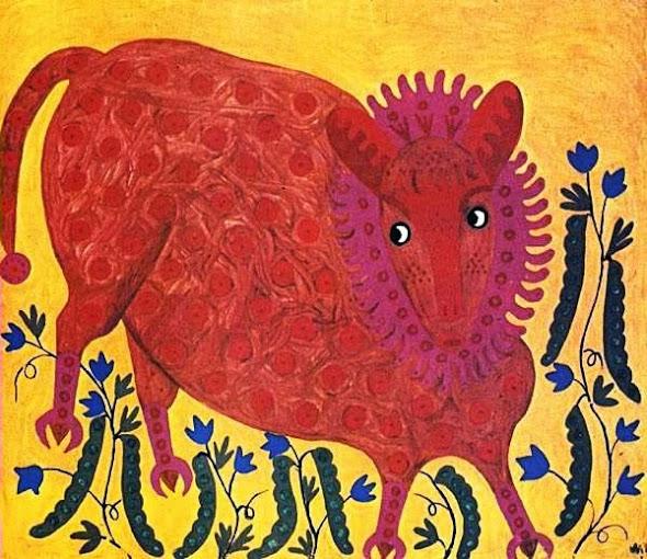 Картина «Гороховий звір» (1971), М. Приймаченко.
