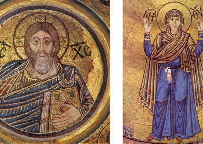 Мозаїки Богоматері Оранти та Христа Вседержителя із Софійського собору в Києві. Перша половина XI ст
