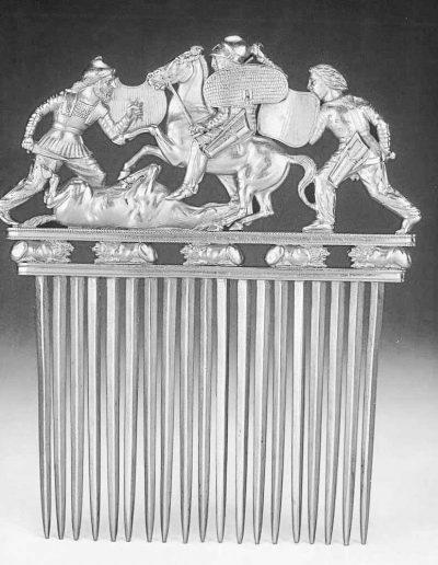 4. Золотий гребінь з кургану Солоха. Кінець V - початок IV ст. до н.е