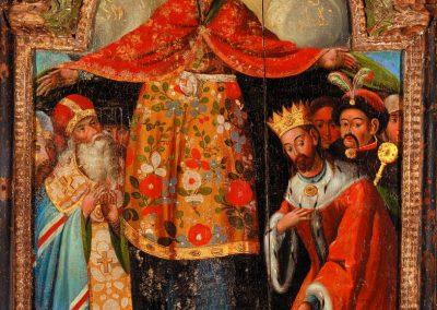 Ікона «Покров Богородиці» (з портретом гетьмана Богдана Хмельницького). Перша половина XVIII ст.