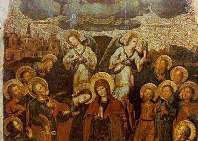 Ікона «Вознесіння Христове» з іконостасу церкви Воздвиження Чесного Хреста монастиря Скит Манявський. Й.Кондзелевич.