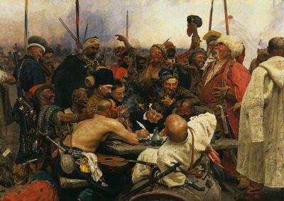 Запорожці пишуть листа турецбкому султану. І. Репін