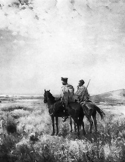 78. Картина «Козаки в степу». 1890. С. Васильківський