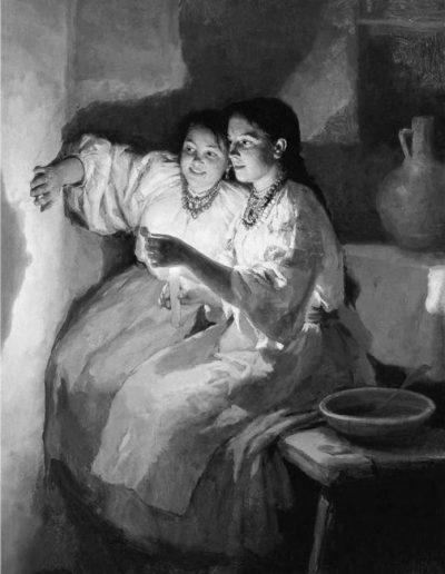 79. Картина «Святочне Ворожіння». 1888. М. Пимоненко