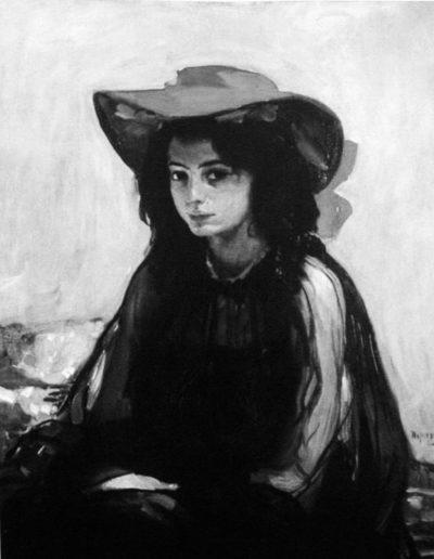 80. Картина «Дівчина в червоному капелюсі». 1902-1903. О. Мурашко